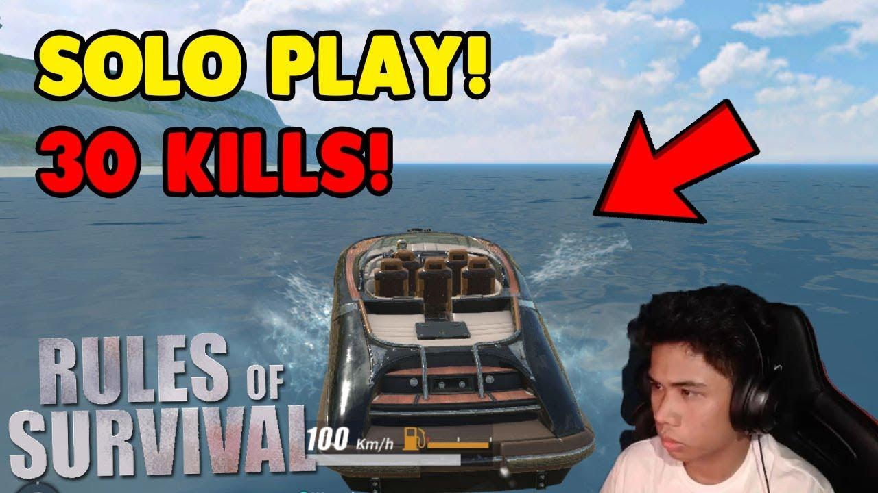 """MAS MADALI MAKA KILL SA SOLO? """"30 KILLS GAME PLAY""""  [TAGALOG] (Rules of Survival: Battle Royale)"""