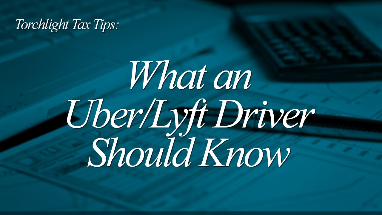 tax tips for lyft drivers