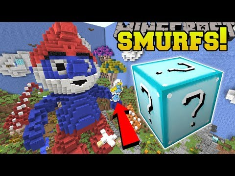 Download Youtube: Minecraft: SMURFS HUNGER GAMES - Lucky Block Mod - Modded Mini-Game