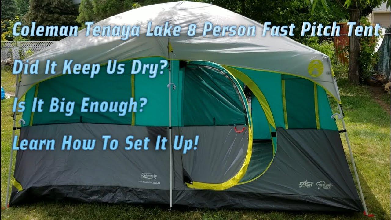 Coleman Tenaya Lake 8 Person Tent Setup Review Take Down Did It Keep Us Dry? & Coleman Tenaya Lake 8 Person Tent Setup Review Take Down Did It ...