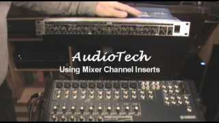 Using Mixer Channel Inserts - AudioTech