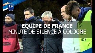 Equipe de France : minute de silence des Bleus à Cologne I FFF 2017