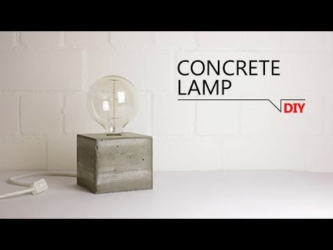 diy lampe aus beton free template youtube. Black Bedroom Furniture Sets. Home Design Ideas