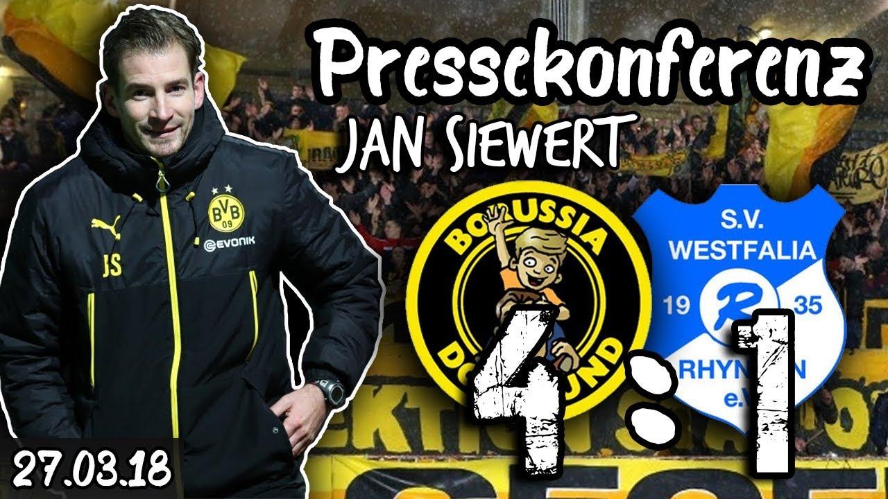 Jan Siewert nach 4:1-Sieg gegen Rhynern - BVB U23 PK
