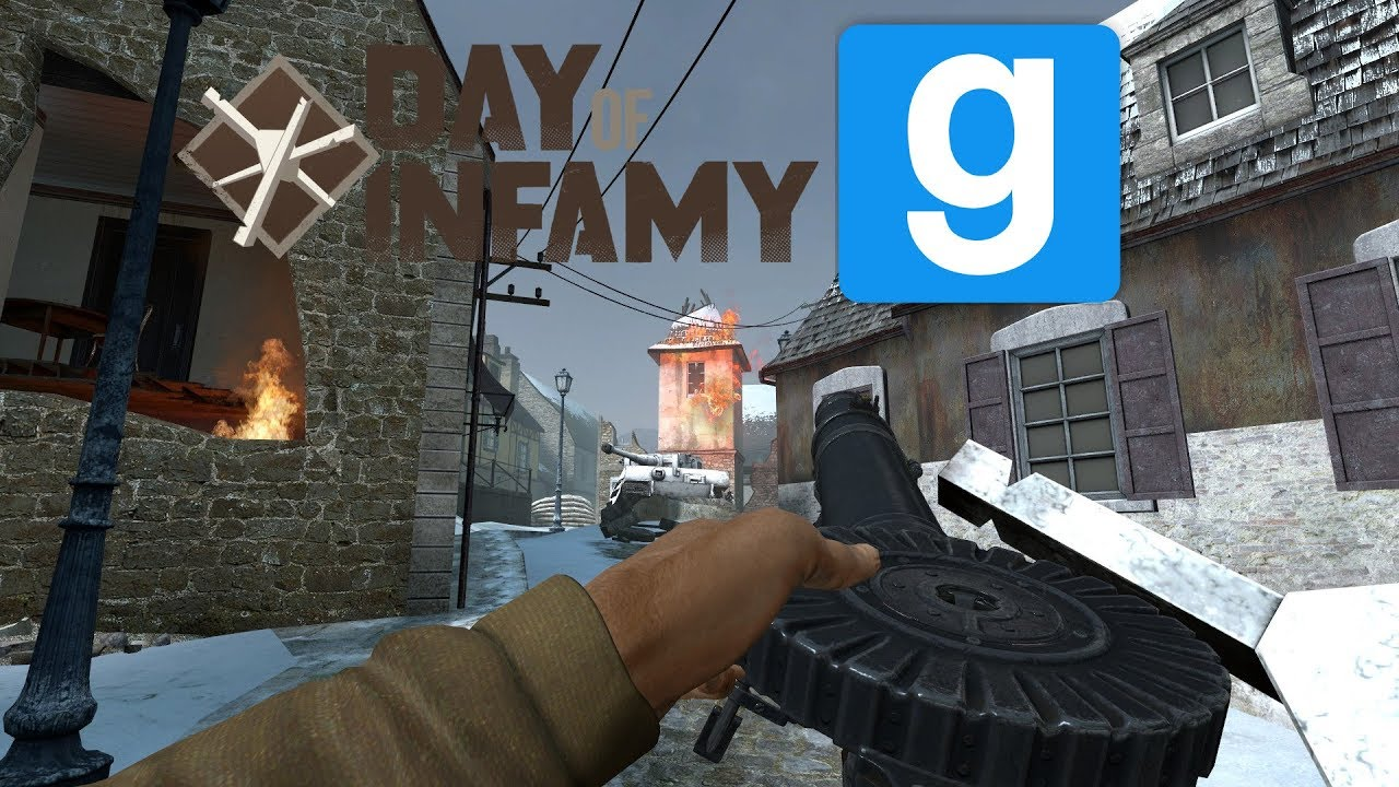 Garry's Mod - Day of Infamy Weapons Pack - Showcase - 1080p 60fps