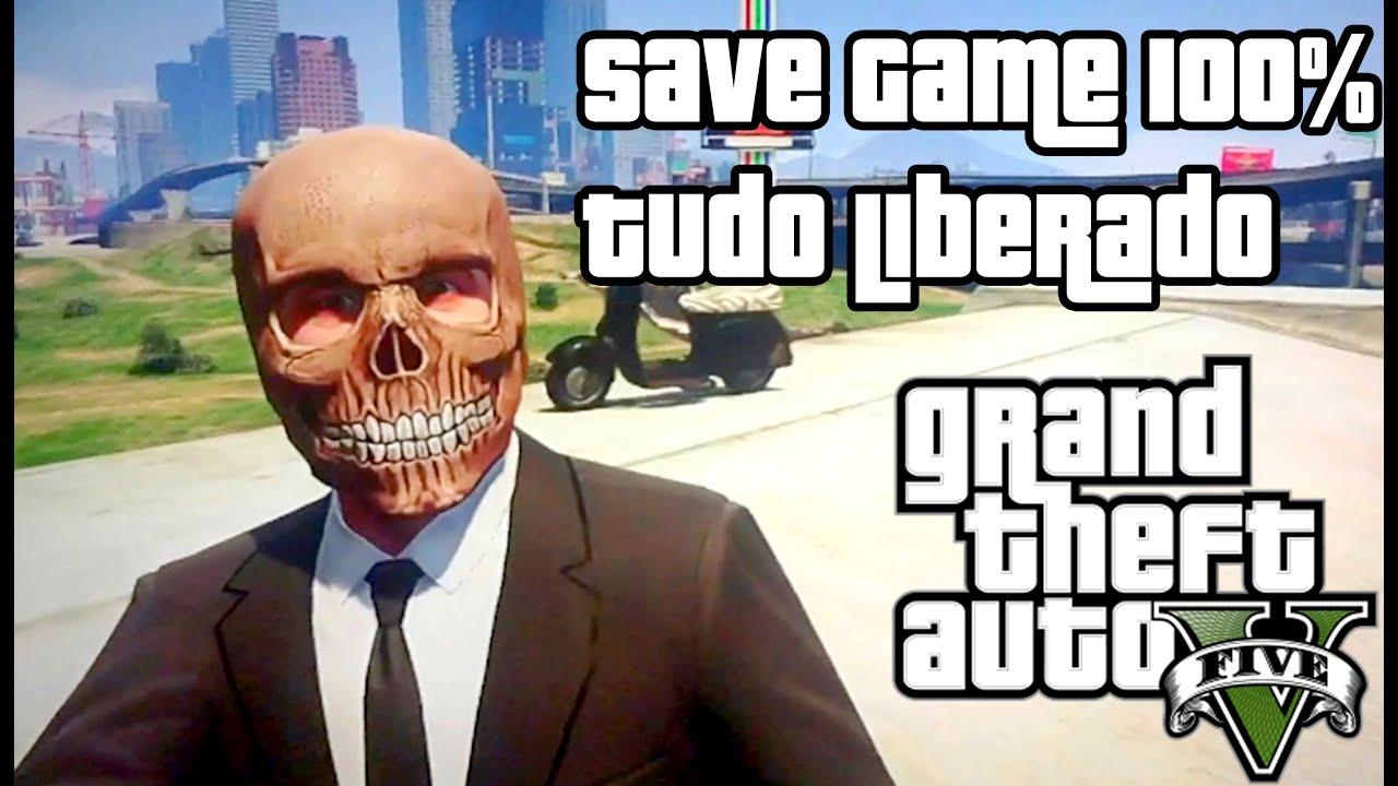 Como Colocar O Save 100 Gta 5 Tudo Liberado No Game Xbox