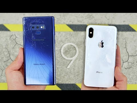 Galaxy Note 9 vs iPhone X DROP Test! Durability King?