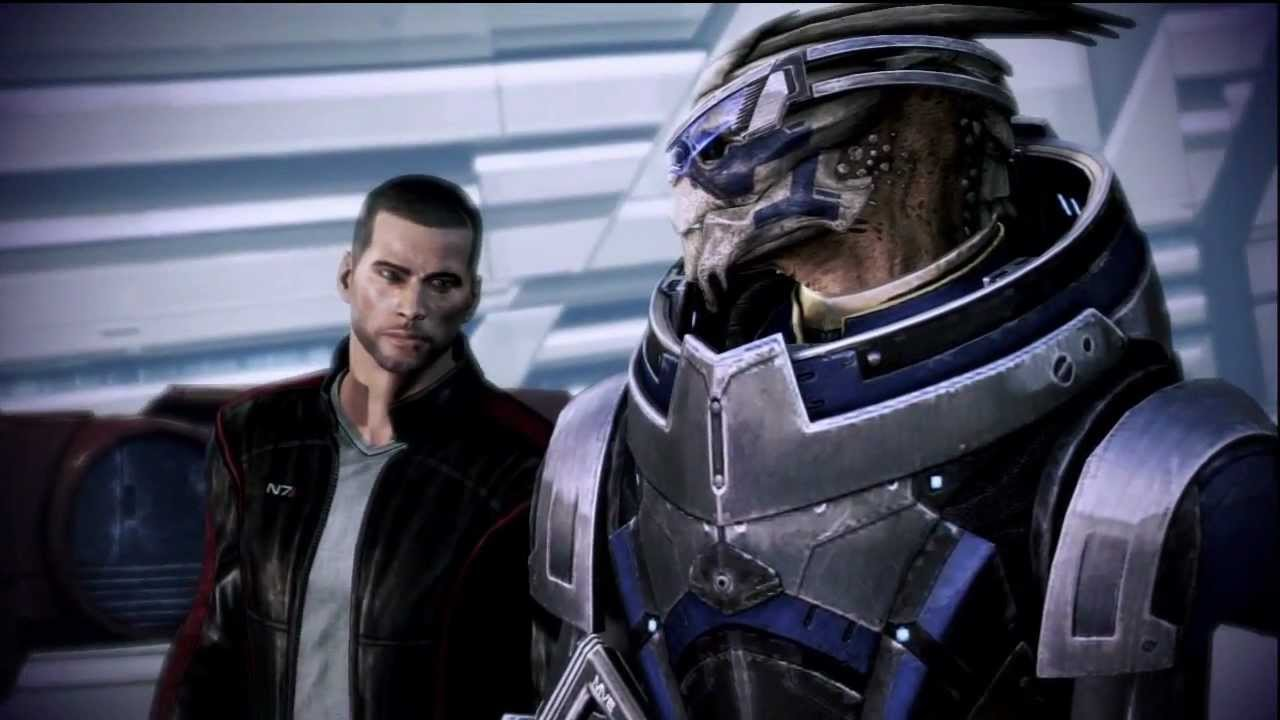 mass effect 3 garrus and commander shephard have a shoot. Black Bedroom Furniture Sets. Home Design Ideas