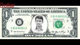 Photoshop Training, How To paint your face in dollar Via photoshop