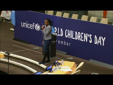 Youths at UN Universal Children's Day suggest fixes for the world