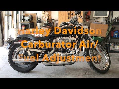 How To Adjust Harley Davidson Carburator Air Gas Screw.