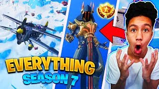 EVERYTHING In Fortnite Season 7! BATTLE PASS, PLANES LOCATION, WEAPON SKINS, CREATIVE MODE, Zipline!