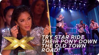 Try Star RIDE their PONY down the OLD TOWN ROAD   Live Week 1   X Factor: Celebrity