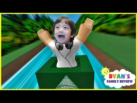 Ryan and Daddy Game Night! Let's Play Roblox Box Slide down with Ryan's Family Review!