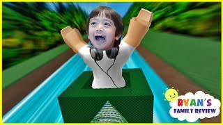 vuclip Ryan and Daddy Game Night! Let's Play Roblox Box Slide down with Ryan's Family Review!