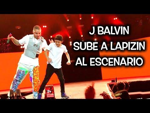 Lapizin sube al escenario a bailar X con J Balvin