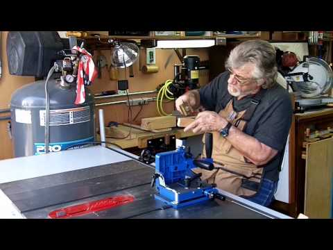 Rockler Table Saw Tenon Jig and Harbor Freight Mortise Machine
