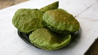 Palak Puri - how to make spinach puri at home!
