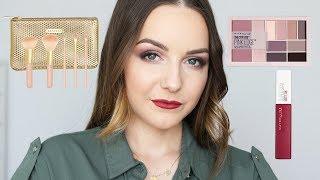 TESTOWANIE NOWOŚCI - PALETA I POMADKA MAYBELLINE, PĘDZLE SEPHORA | Milena Makeup