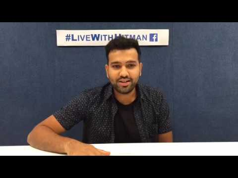 Rohit sharma live on FB talking about his comeback