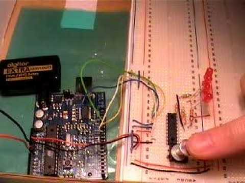 Demo of Arduino with MCP23S08 8-bit SPI I/O Expander