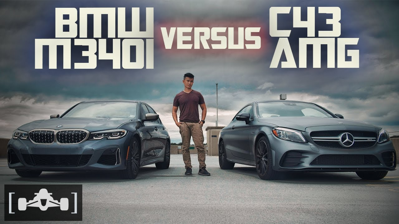 Download 2020 BMW M340i vs. Mercedes C43 AMG Comparison | Review + Roll Race