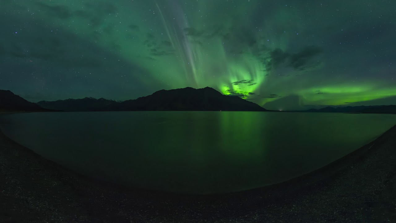 Northern Lights Video with 360 Degree View