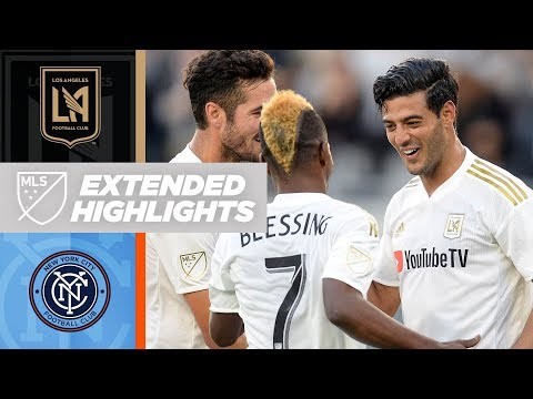 LAFC's Carlos Vela goes head to head with NYCFC's David Villa | Extended Highlights