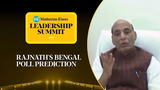 '2/3rd majority in West Bengal...': Rajnath Singh on BJP-TMC fight #HTLS2020