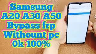 samsung A20 A30 A50 bypass frp google account 9.0 / sasmsung A30 bypass frp 9.0