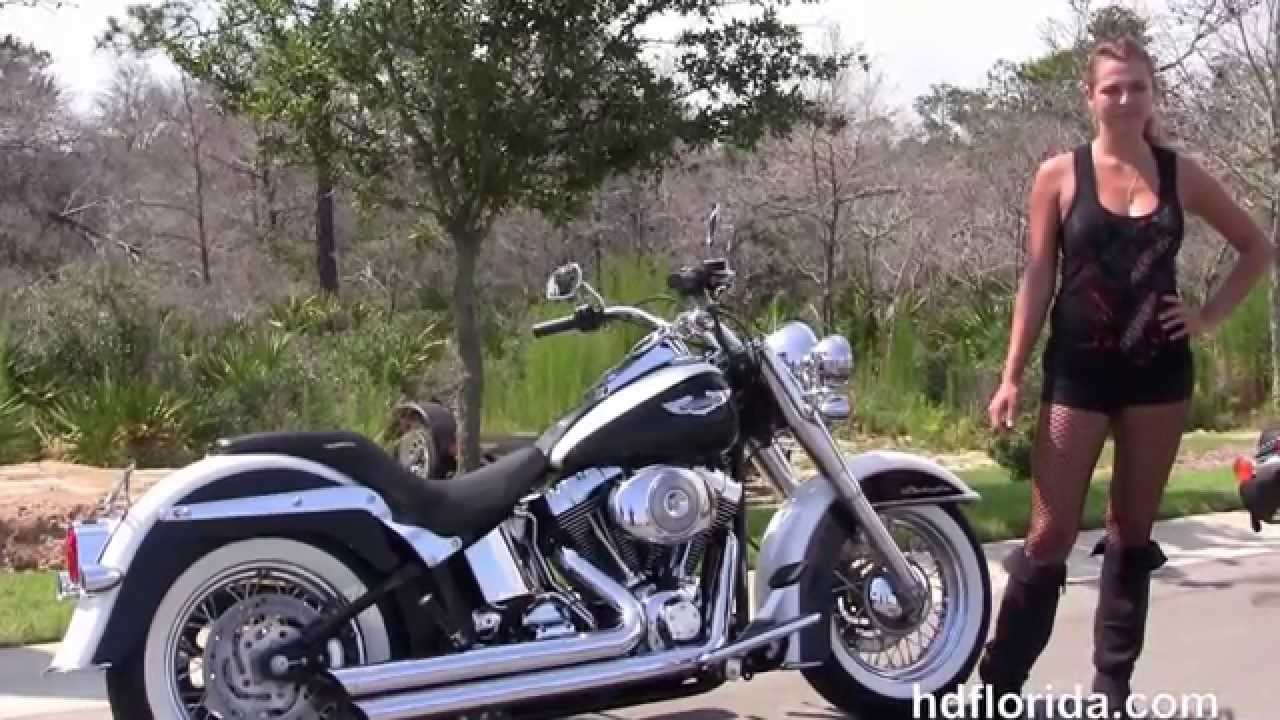 Used 2006 Harley Davidson Softail Deluxe Motorcycles for sale - YouTube