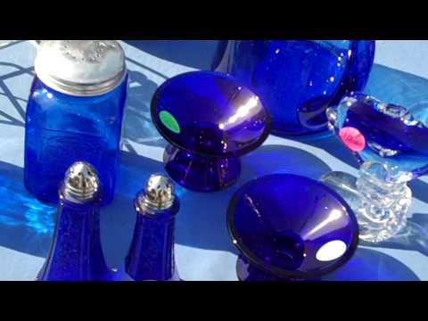 Blue Lady on Cobalt Glass, Propriety and Permission to Film Her Wares.MP4