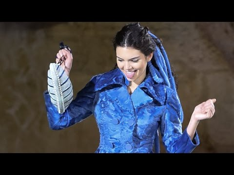 Kendall Jenner Suspended Over Trevi Fountain For The Sake Of Fashion