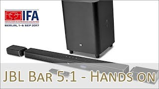 JBL BAR 5 1 Soundbar Lineup Hands on (german)