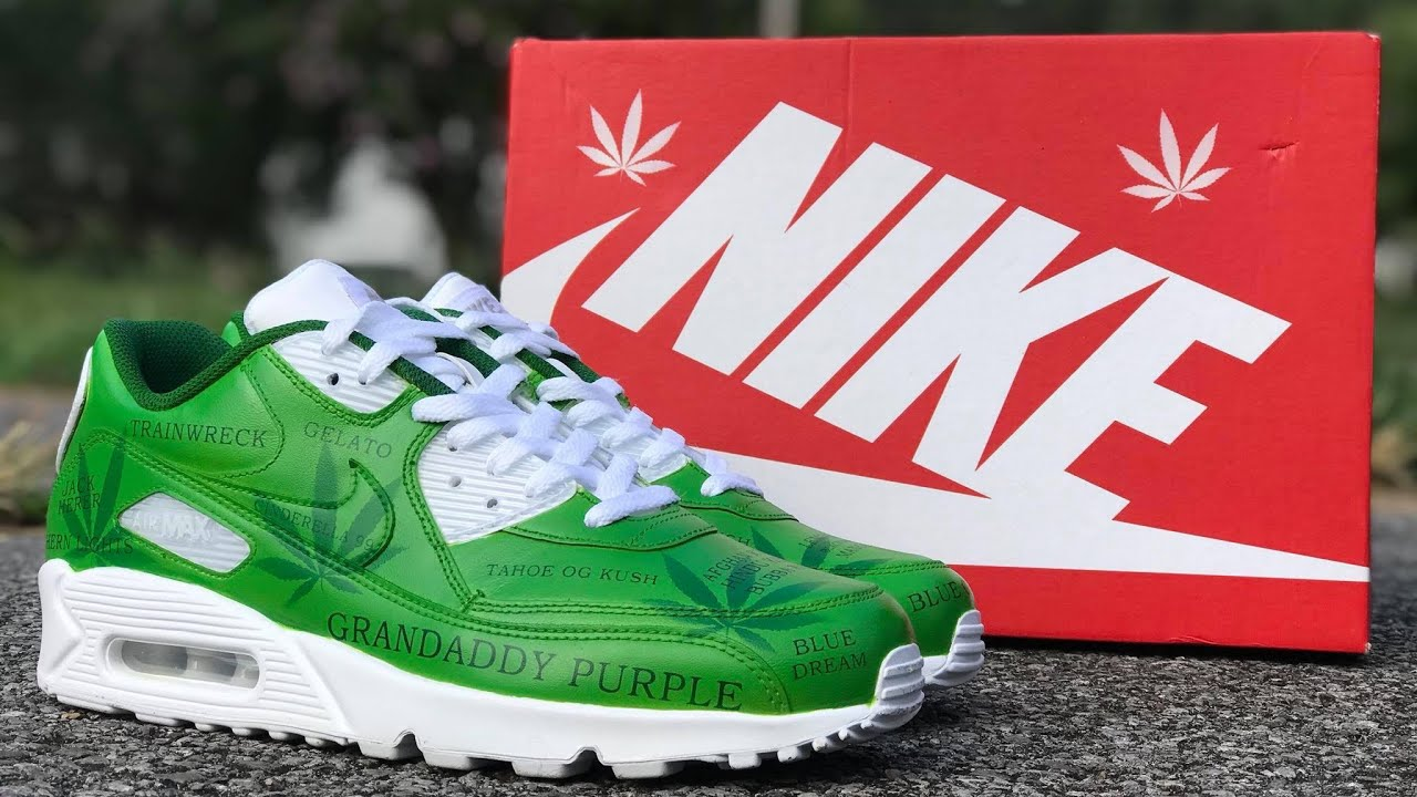 "CUSTOM AIR MAX 90 ""CANNABIS"" REVIEW"