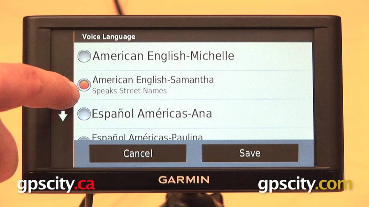 how to change language on garmin