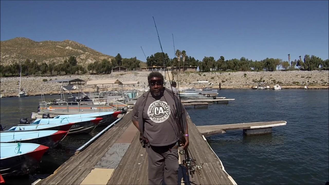 Dock fishing lake perris youtube for Lake perris fishing report