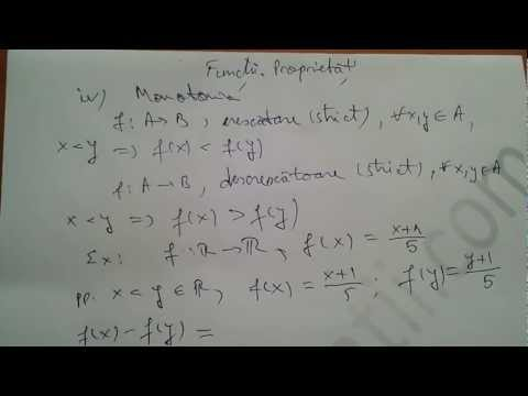 Monotonia functiilor  Aplicatii a monotoniei functiilor