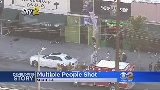 6 Shot Following Fight In South Los Angeles