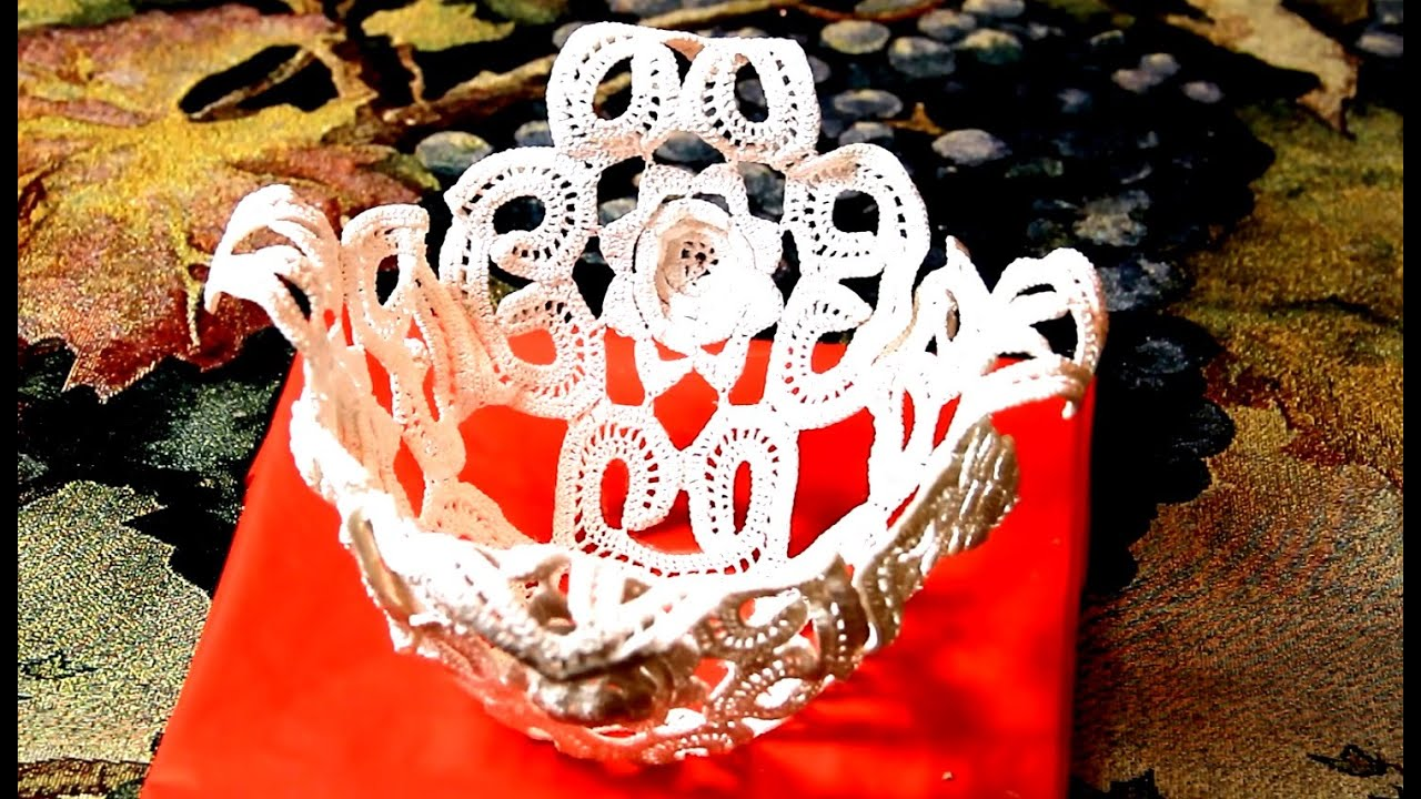 Салфетки своими руками ваза