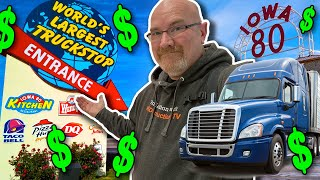 LIVING at The WORLD'S LARGEST TRUCKSTOP for a WHOLE DAY ????????️ + Iowa 80 Truck Museum Tour ?