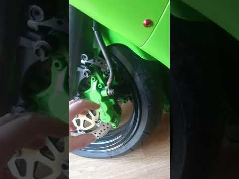 Custom ZX6R front brake rebuild n paint