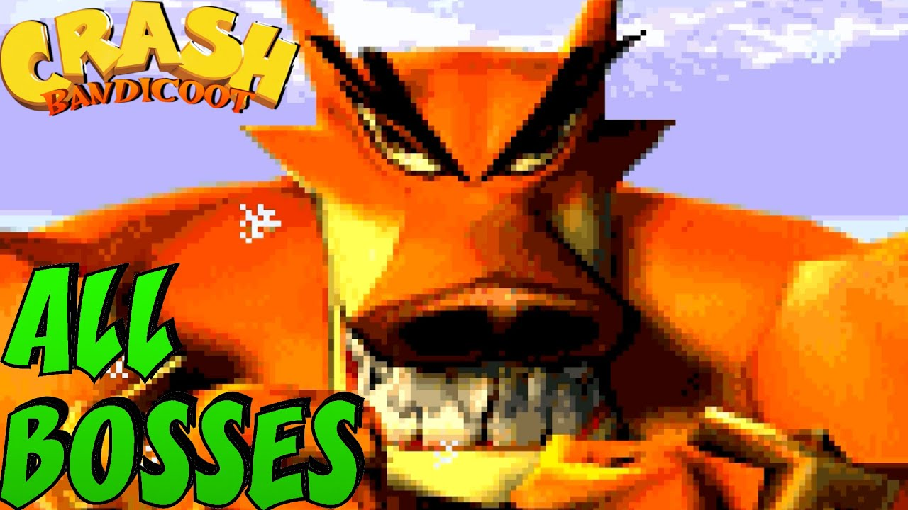 Crash Bandicoot - The Huge Adventure GBA Trilogy - All Bosses (No Damage)