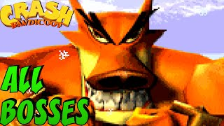 Crash Bandicoot GBA Trilogy - All Bosses (No Damage)