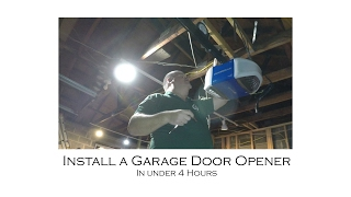 how to install garage door opener chamberlain wifi control myq hd950wf from start to finish