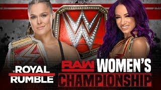 Ronda Rousey Vs Sasha Banks Raw Women's Championship | Royal Rumble 2019