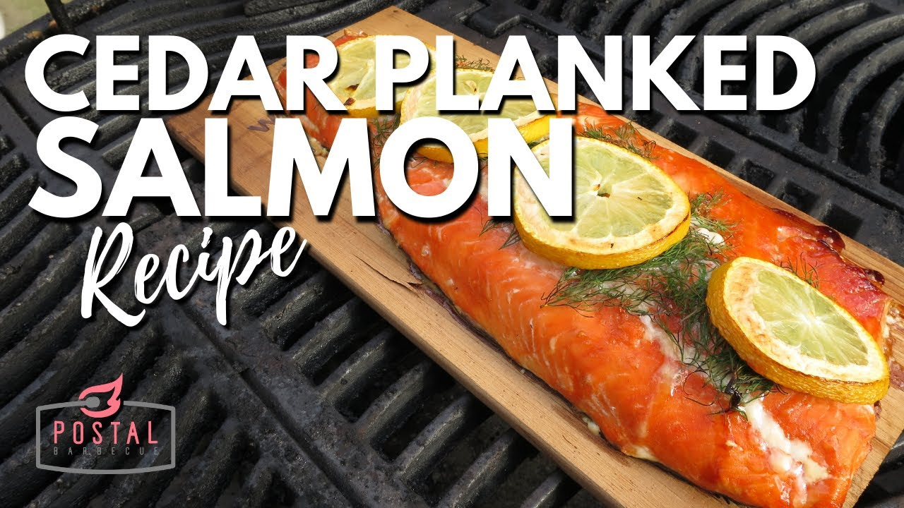 Cedar Plank Salmon  How To Cook Salmon On The Grill Recipe