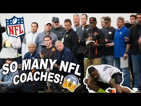 i had to workout in front of every NFL coach.. *so nervous i threw up*