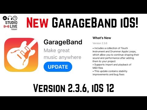New Version! GarageBand iOS v2 3 6 (iPhone/iPad) - YouTube