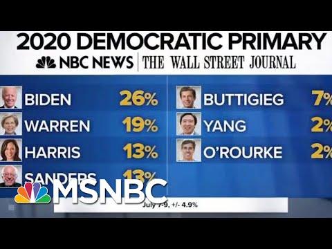 NBC News / WSJ Poll Shows Elizabeth Warren Surge And Bernie Sanders Falling | MTP Daily | MSNBC